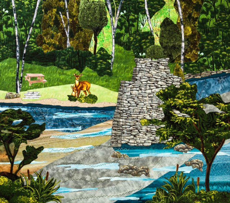 farmington river quilt project - ccc bridge